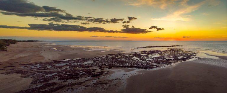 Darwin beach at sunset