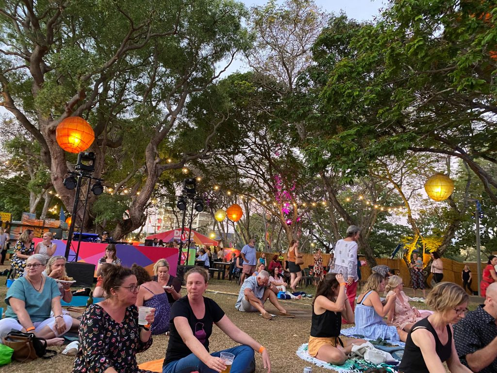 Crowds at Festival Park
