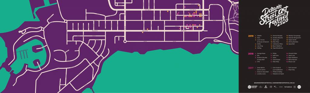 Darwin Street Art Festival Map