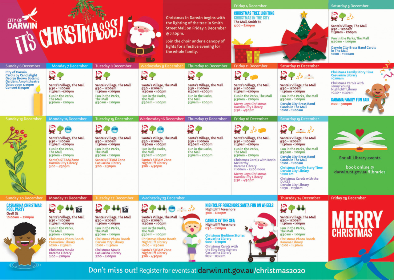 Darwin Christmas Celebration Calendar
