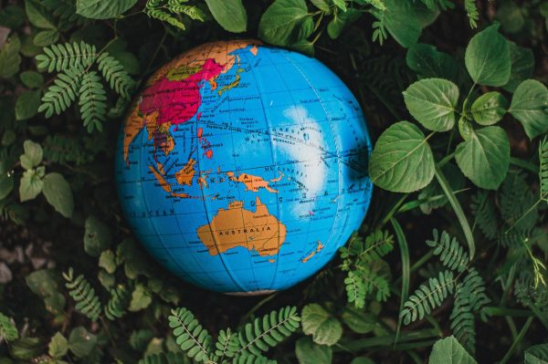 Australia on Globe